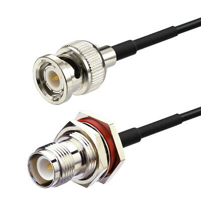 """BNC Male to RP-TNC Jack Bulkhead RF Coaxial Cable Assembly RG174 20cm /8"""""""