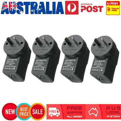 4 x USB Charger AC 100-240V to DC 5V 2000mA Power Adapter Female Socket