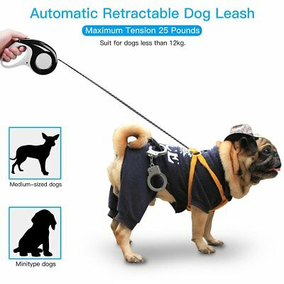 Retractable Dog Leash 16 Feet For Dogs Up To 33 Lbs Strong Nylon Anti Slip