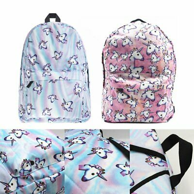 Unicorn Bags Fantasy Rucksack Backpack Student Schoolbag Girls Travel College HU