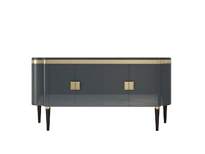 Hochglanz Design Sideboard in Hell-Anthrazit