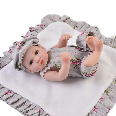 Newborn Baby Dolls Clothes for 10-11inch Reborn Girl Doll Overalls Beret Hat