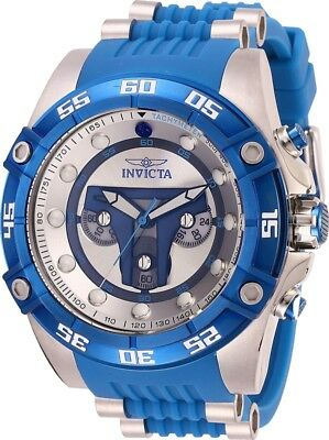 Invicta 27966 Star Wars Jango Fett Men's Chronograph 52mm Blue Rubber Watch