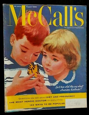 McCall's Magazine August 1958 FASHIONS HOME FICTION HUSBANDS MISSISSIPPI MEXICO