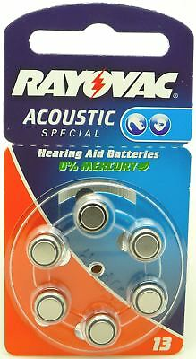 Rayovac Acoustic Special Mercury Free Hearing Aid Batteries (6 Pack) - Size 13