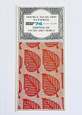 Silver Reed PRE-PUNCHED RIBBER SERIES 74 Dbl Jacquard *NEW* 10 Cards NO. 361-370