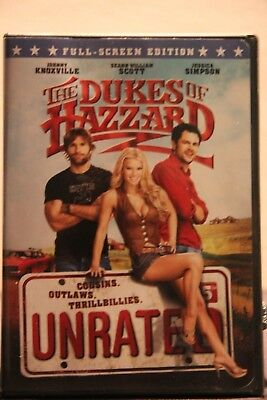 The Dukes of Hazzard (DVD, 2005, Unrated, Full Frame Edition) - Used