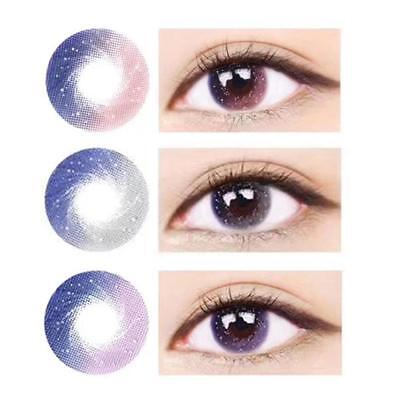 2pcs Galaxy Effect ​UV Protection Contact Lenses Party Cosplay Eyewear Tool