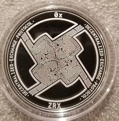 OX PROTOCOL ZRX 1 oz .999 silver commemorative coin crypto currency bitcoin