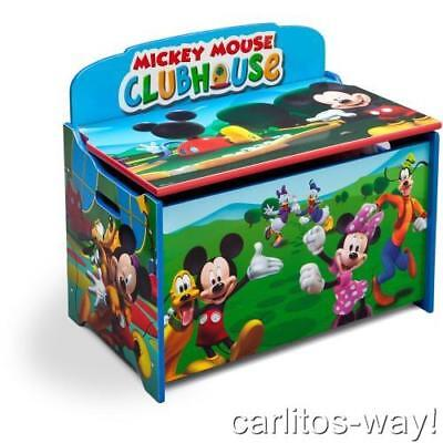 Disney Deluxe Mickey Delta Toy Box Mickey Mouse Clubhouse Kids Room Baby