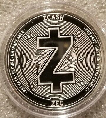 ZCASH ZEC 1 oz .999 silver commemorative coin crypto currency bitcoin private
