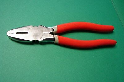 "HUSKY TOOLS ~ Lineman's Pliers ~  8"" long ~ Good Condition ~ FREE S/H IN USA"