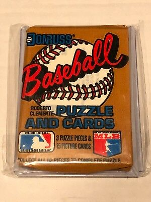 1987 Donruss Baseball Unopened Wax Pack With Roger Clemens Card On The Back