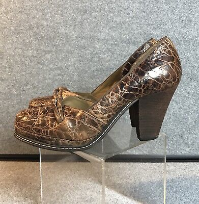 a20244537ac ANTHROPOLOGIE SHOES SCHULER Sons Womens Size 9 Leather Heels Pumps ...