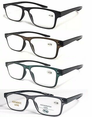 R869 Superb Quality Plain Reading Glasses/Lightweight Frame & Flexible Long Arms