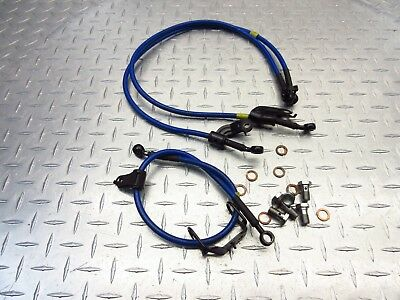 Yamaha YZF-R6 1998-02 HEL Stainless Brake lines hoses Crossover set
