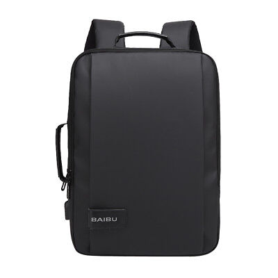 17 Inch Laptop Messenger Bag Backpack Multifunctional Briefcase USB Charging