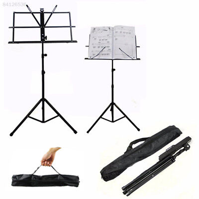 E2FF Metal Folding Adjustable Music Sheet Stand Foldable Rack with Carrying Bag~