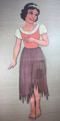 """1938 Walt Disney Snow White Paper Cut Out Dolls 14"""" tall Collectable"""