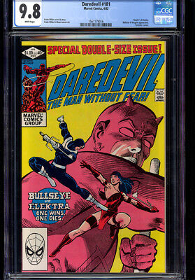 "Daredevil #181 Cgc 9.8 Wp Frank Miller, ""death"" Of Elektra!"