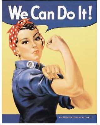 "Rosie the Riveter ""We Can Do It"" Poster 2"" X 3"" Fridge / Locker Magnet. WWII"
