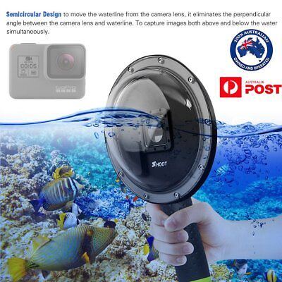 Waterproof 6inch Diving Dome Port Fisheye Lens Hood Cover for GoPro Hero 5 6 7 Q