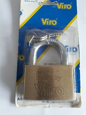 Viro Brass Padlock 70mm