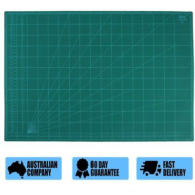 A1 Thick 5-Ply Self Healing Craft Cutting Mat 2-Side Print Quilting QWE