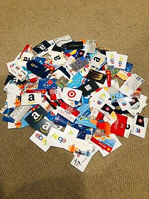 218 used gift card Lot collection