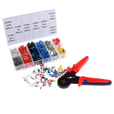 0.25-10mm Crimper plier wire crimping tools with1200PCS wire crimping terminalsK