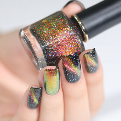 BORN PRETTY Holographic Chameleon Magnetic Nail Polish Starry Black Base Need