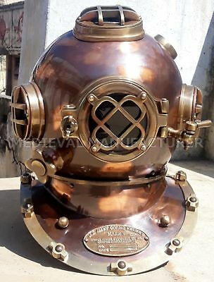 "Christmas Gift 18"" U.S Navy Diving Helmet Mark V Deep Sea Divers Helmet Vintage"