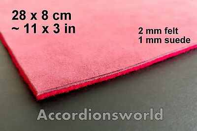 3 mm Accordion Keyboard Felt/Leather Padding / Akkordeon Klappenbelag Filz/Leder