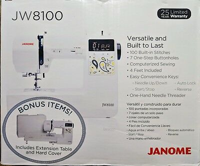 Janome Jw8100 Fully Featured Computerized Sewing Machine W/ 100 Stitches