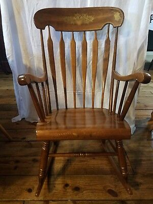 Vintage, S. Bent & Bros, Colonial, Adult, Rocking Chair