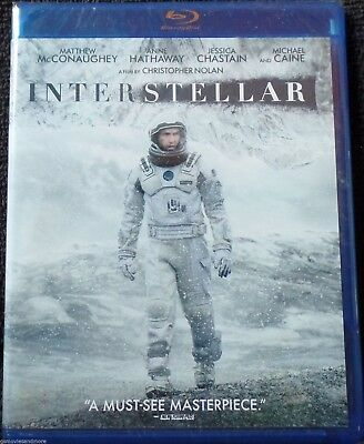 INTERSTELLAR Blu Ray MATTHEW MCCONAUGHEY Christopher Nolan ANNE HATHAWAY See NEW