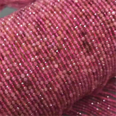 "1pcs 4MM red spinel Gemstone Loose bead 15"" Beaded DIY Styles Hole Spacer"