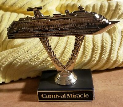 Carnival MIRACLE Cruise - Plastic Ship on a Stick Trophy & BONUS ITEMS