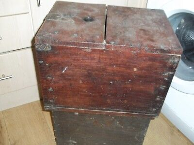 Large Antique Late 19Th Century Wooden Japanese Ballot Voting Box