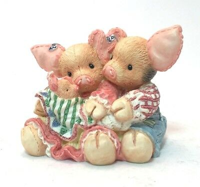 Enesco TLP This Little Piggy Makes Three 1994 Baby Gift No Box Never Displayed