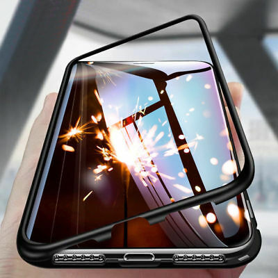 360° Funda Para Apple iPhone XR XS Max X 8 7 6S 6 Plus Magnética Metal Carcasa