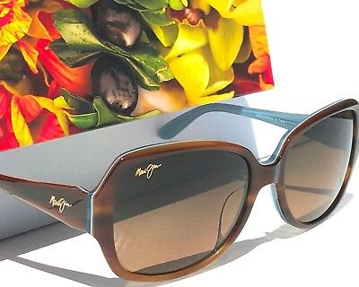 NEW* Maui Jim KALENA Brown Blue POLARIZED Bronze Womens Sunglass HS299-03T
