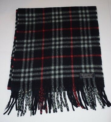3f022037d9bd Genuine Burberry Burberry s Vintage Check Blue 100% Cashmere Good Scarf