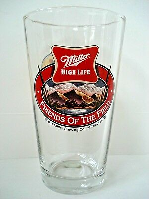 VINTAGE 2001 Miller High Life Friends of the Field ~ Pheasants Pint Beer Glass