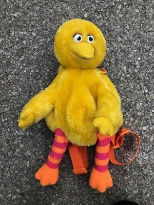 Vintage Sesame Street Big Bird Plush Backpack