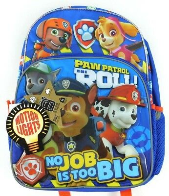 Nickelodeon Paw Patrol On A Roll Kids' 16'' Backpack With Motion Lights