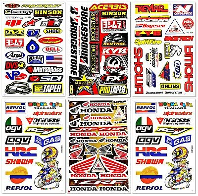 Motocross Motogp Dirtbike Dirt Bike ATV Racing D6727 Pack 6 Decals Stickers set