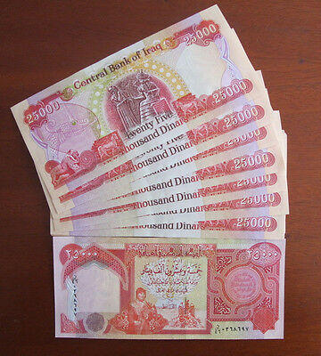 200,000 NEW IRAQI DINAR UNCIRCULATED 8 x 25,000 IQD