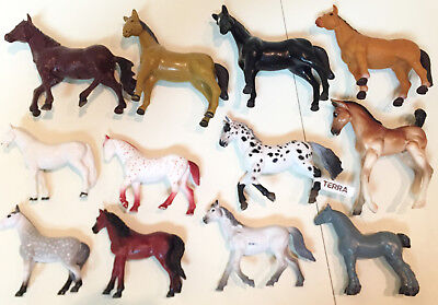 "Mixed Lot of 12 Horses About 3.5"" to 4.5"" Tall - All In Very Good Condition"