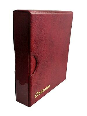 Collector Red Album In Case For 221 Coins Coin Folder Book Mix Size Coins